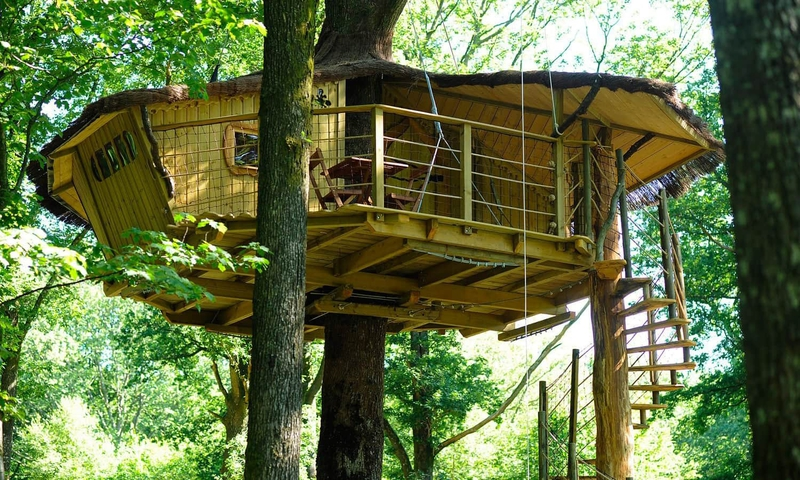 Tree Houses Staircase (4 Tree Houses For 2, 3, 4 Or 6 Pers.)