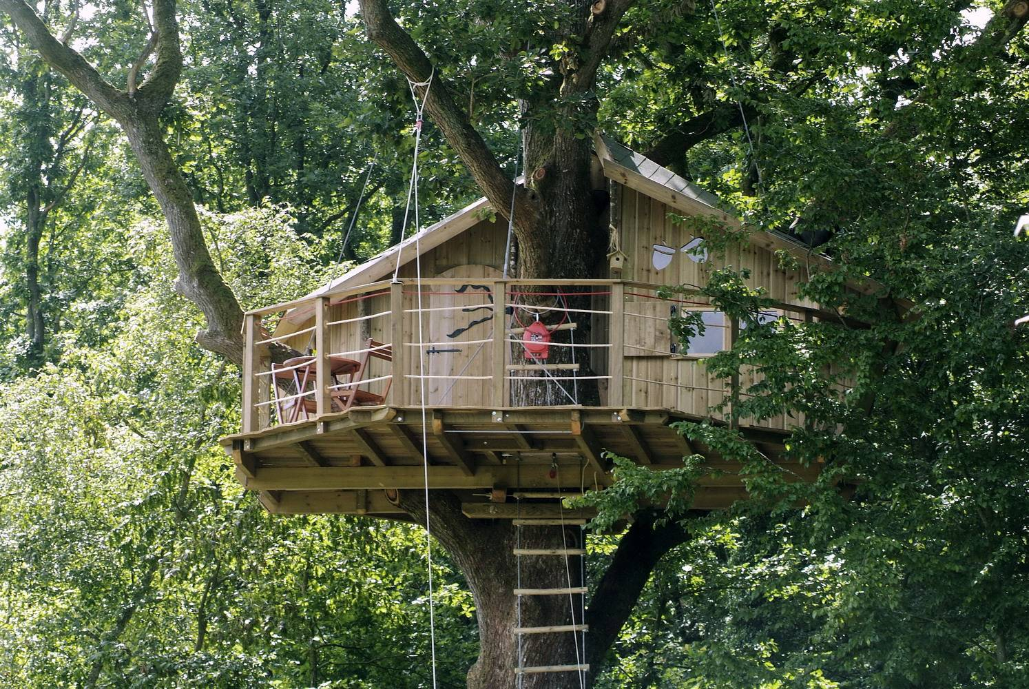 cabane oiseaux cabanes dans les arbres dans le perche. Black Bedroom Furniture Sets. Home Design Ideas